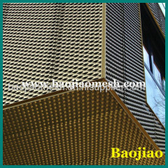 Aluminum Expanded Sheet Mesh Curtain Wall
