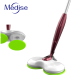 electric cordless water spraying mop and spinning microfiber cleaning mop