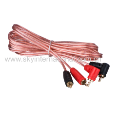 RCA Cables Transparent pure OFC copper wire