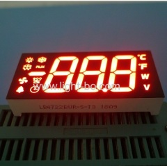 vertical led display; vertical 7 segment;vertical assembly display;90 degree pin bending display