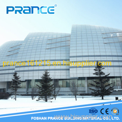 Soundproof decorated Airport metal curtain wall