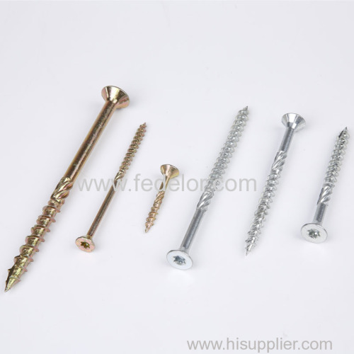 flat head wood constuction screw