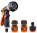 Plastic multifunction garden hose nozzle set