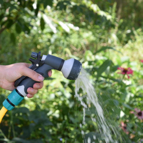 Plastic 8 pattern garden water spray gun set
