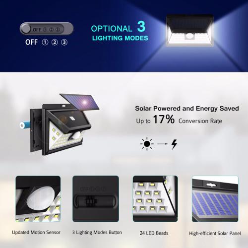44LED solar motion sensor light