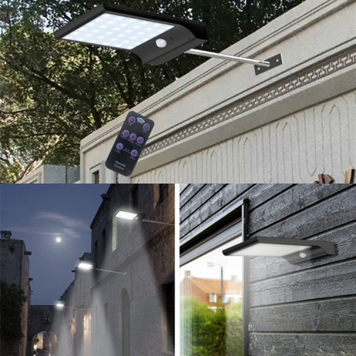 48LED solar motion sensor light with remote control