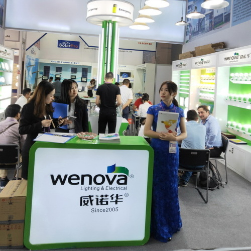 124th Canton Fair of Wenova's booth/Wenova one of the biggest manufacturer for led lamps in China