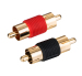 RCA Male To Male Aux Adapter Gold Plated