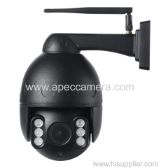 Black color full metal 1.3MP wireless IR PTZ cameras P2P wifi IP cameras built in microphone speaker two way intercom