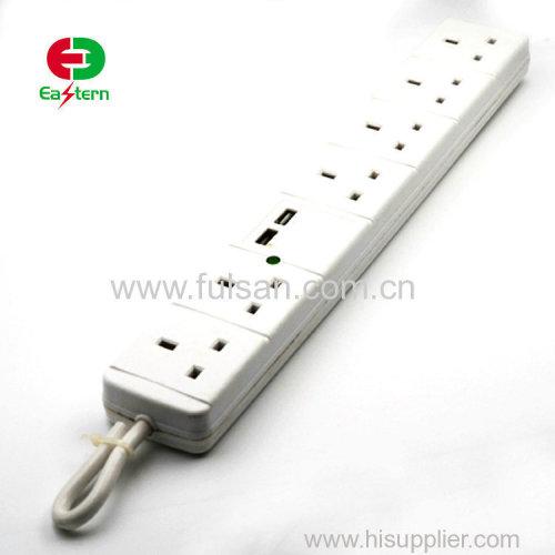 Wholesale UK power socket 6 way power strip bar 250v 13a switch socket outlet