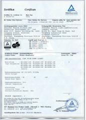 SHENZHEN WENOVA TUV BST INTERTEK CE ETL CERTIFICATE