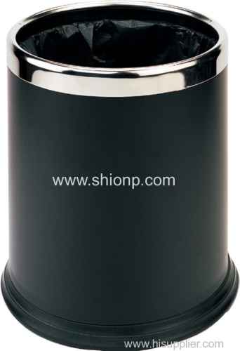 Black double layer dust bin