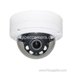 5MP true WDR vandalproof dome cameras 3.6-10mm auto focus IK10 IP dome cameras 5MP IPV6 real time 25fps/30fps camera