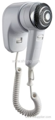 Hotel hair dryer with chrome cover