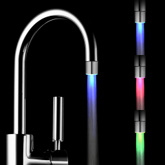 Wonderful LED Faucet Built-in Device For Mini Generating Electricity lliuminated By Water Without Battery