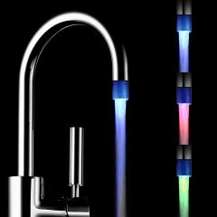 Fancy bathroom faucet led water tap