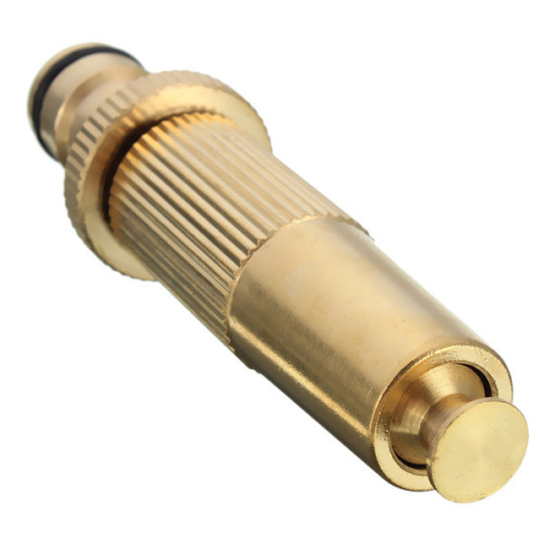 Brass quick fitting adjustable hose spray nozzle