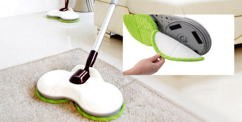Electric wire floor cleaning mop extendable cleaning machine making machine