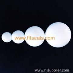 White PTFE Hollow balls . Solid teflon balls