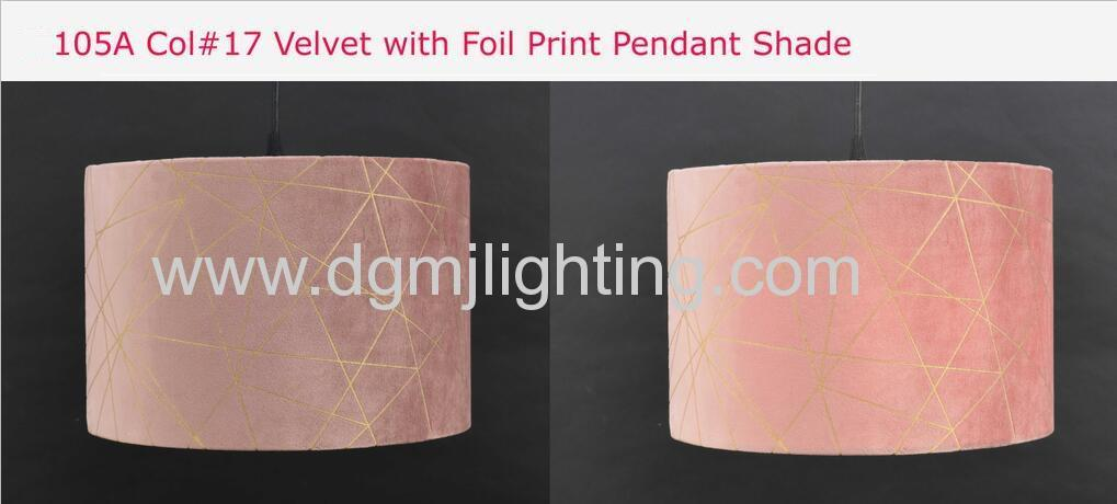 Velvet With Foil Print Pedant Shade D300mm