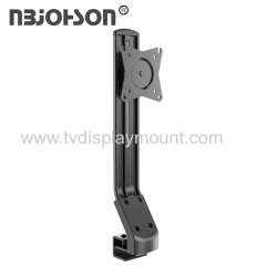 """NBJOHSON Single 15""""-27"""" LCD Monitor and Screens Adjustable Desk Ergonomic Mount - with Tilt and Rotate Function"""