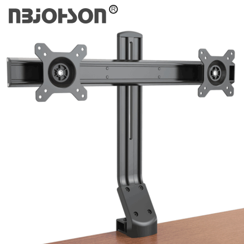 "NBJOHSON Dual 15""-27"" LCD Monitor and Screens Adjustable Desk Ergonomic Mount - with Tilt and Rotate Function"