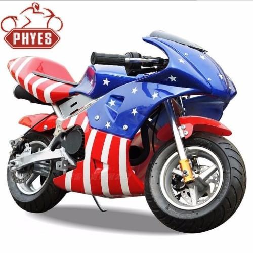 49cc/50cc super Pocket Bikes With Chain Drive! Pull Start! Angle Adjustable Handlebars!