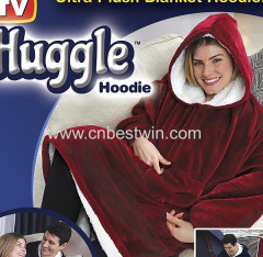 Huggle Hoodie Hooded Robe bathrobe Pullover Blanket as seen on TV