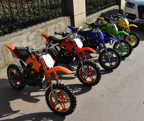2 Stroke 49cc Mini Bike for Kids Hand pull start/Children fuel Motorbike/Gasoline Motorcycle
