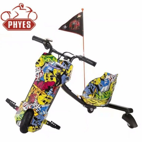 phyes Non Foldable and CE Certification 3 wheel drifting Scooter