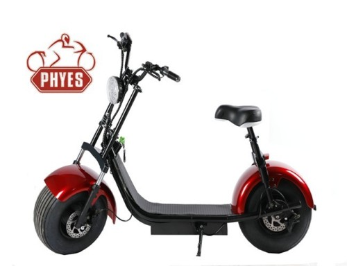 phyes 2018 new products big two wheels citycoco 2000W 60V electric scooter electric motorcycle