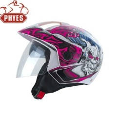 phyes S M L XL Size and ISO9000 Certification half face motorcycle helmets with visor