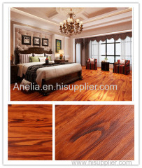 Wood effect vinyl flooring PVC low maintenance click lock system soundproof waterproof plastic floor covering