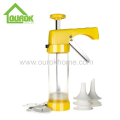 plastic cookie decorating press gun making biscuits cake tools with nozzle baking kit tools
