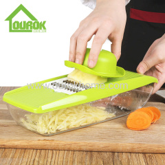 Ourok multifunctional mandoline slicer vegetable cutter carrot grater with interchangeable stainless steel blades