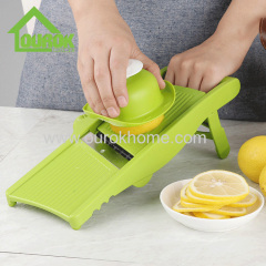 Ourok plastic adjustable multi blade vegetable onion potato slicer chopper for home use