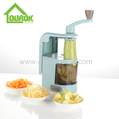 Ourok new design plastic manual handheld roller spiral spiralizer slicer potato cutter for home use