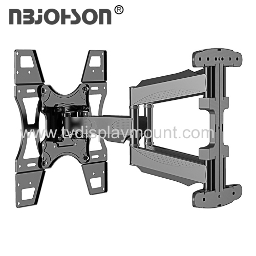 NBJOHSON New Item Dual Arms Full Motion Multi Position TV Wall Mount for 17-inch To 56-inch Screen with Tilt And Swiv