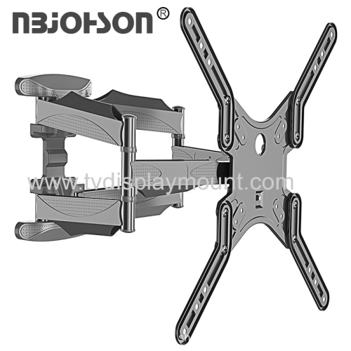 Dual Arms Full Motion Multi Position for 17-inch To 56-inch TV Accessible Tilt Mechanism with 120° Swivel Function