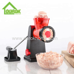 Plastic ground manual kitchen meat grinder and sausage maker sausage stuffer for home use
