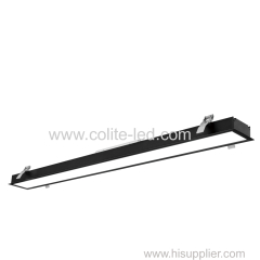 Recessed Aluminum linear lighting 20W 40W 60W 80W optional Black and White surface treatment available