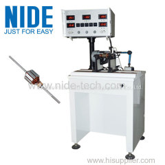 Automatic Positioning Weight Increase Rotor Armature Balancing Machine