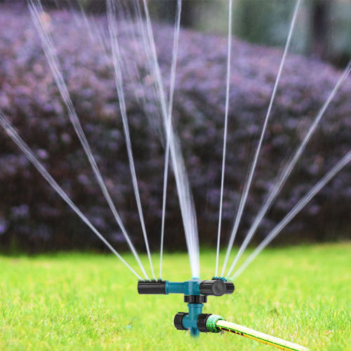 360 degree garden lawn sprinkler with metal spike