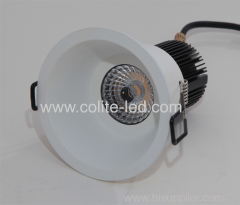 Horn shape white frame LED downlight 10W 12W dimming or non-dimming optional