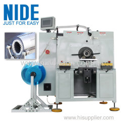 horizontal motor stator insulation paper insertion equipment machine manufacturer