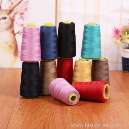 卸売紡績ポリエステル100%縫製スレッド40/2 30/2 20/2 PP織りバッグ弾性糸工場の中国での供給