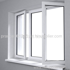 Acoustic decorated office building corridor glass window
