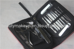 power factory 16pcs/set mens manicure set ladies manicure at home french manicure pedicure kit nail kit nail clippers