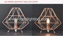 brenmen geometric pendant red copper