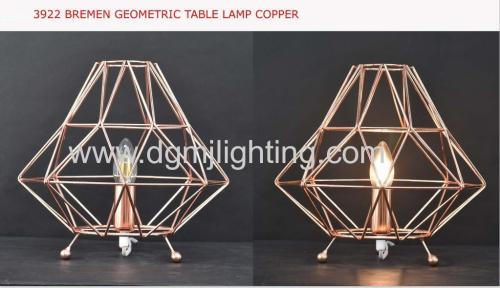 brenmen geometric pendant copper